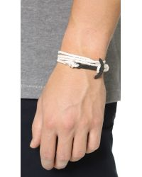 Miansai Natural Modern Anchor Noir Rope Bracelet for men