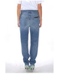 Alexander Wang Blue Light Indigo Aged Boy Fit Jean