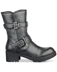 G by Guess Black Minion Moto Booties