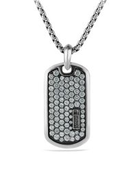 David Yurman | Metallic Pave Tag with Gray Sapphires for Men | Lyst