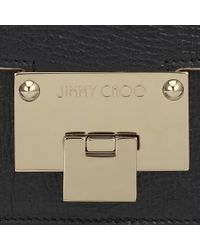 Jimmy Choo | Metallic Rebel Soft/s Black Washed Crinkled Leather Shoulder Bag | Lyst