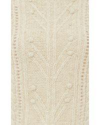 Isabel Marant White Irish Knit Gracie Sweater