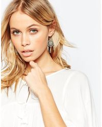 ASOS Blue Limited Edition Feather Catcher Earrings