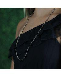 Sylva & Cie - Metallic Kyonite Bead Necklace - Lyst