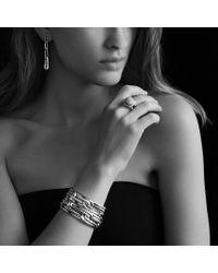 David Yurman - Metallic Labyrinth Link Drop Earrings with Diamonds - Lyst