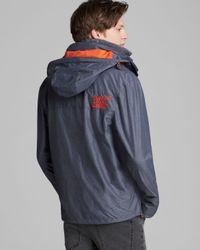 Superdry Gray Hooded Technical Popzip Windcheater Jacket for men