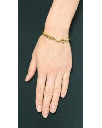 Vita Fede | Metallic Mini Titan Cube Crystal Bracelet - Gold/Clear | Lyst