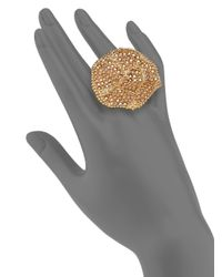 Chloé - Metallic Eleanor Crystal Ring - Lyst