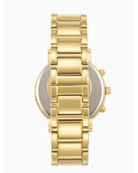 kate spade new york | Metallic Gramercy Grand Chronograph | Lyst