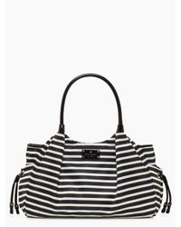 kate spade new york Black Kate Spade Nylon Stripe Stevie Baby Bag