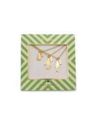 kate spade new york - Metallic Rock Paper Scissors Necklace - Gold - Lyst