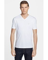 Versace | White Medusa V-neck T-shirt for Men | Lyst