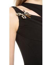 DSquared² Black Sleeveless Wool Dress