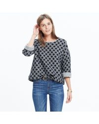 Madewell Black Reversible Marled Dot Top