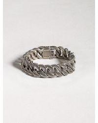 John Varvatos | Metallic Sterling Silver Link Bracelet for Men | Lyst