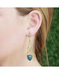 Monique Péan Metallic Gilalite Baguette Cage Earrings