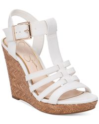 Jessica Simpson | Gray Jenaa Wedge Sandals | Lyst