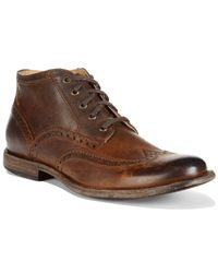 Frye | Brown Phillip Wing-tip Chukka Boots for Men | Lyst