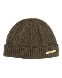 Polo Ralph Lauren - Green Cable Knit Beanie for Men - Lyst