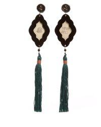 Anna E Alex - Multicolor Panther Safari Deco Wooden Earring - Lyst