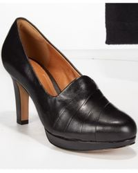 Clarks | Black Artisan Women's Delsie Joy Platform Pumps | Lyst