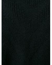 Y-3 - Black Ribbed V Neck Cardigan - Lyst