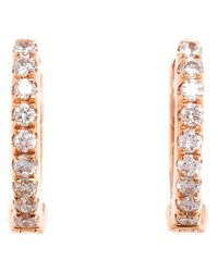 Rosa De La Cruz - Metallic Diamond Hoop Earrings - Lyst