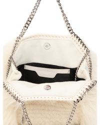 Stella McCartney | Natural Mini 3chain Falabella Faux Fur Bag | Lyst