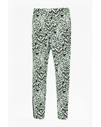 French Connection | Green Leopard Moth Crepe Gathered Trousers | Lyst