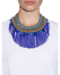 Etro | Blue Crystal And Bead-Embellished Necklace | Lyst