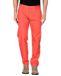 DSquared² - Red Casual Trouser for Men - Lyst