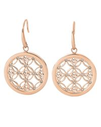 Michael Kors Pink Rose Goldtone And Glitz Small Drop Earrings