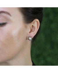 Todd Reed Metallic Tahitian Pearl And Diamond Stud Earrings