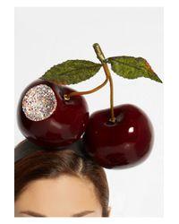 Piers Atkinson - Red Bitten Cherries Crystal-Embellished Headband - Lyst