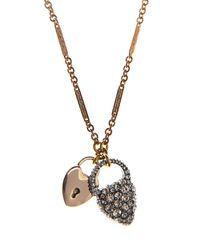 Lulu Frost - Metallic Blackheart Lock Necklace - Lyst