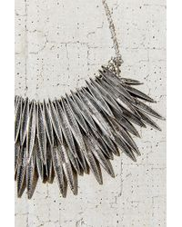 Urban Outfitters Metallic Burning Rays Statement Necklace