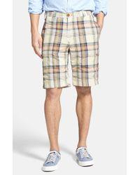 Tailor Vintage - Green 'grove Madras' Reversible Shorts for Men - Lyst