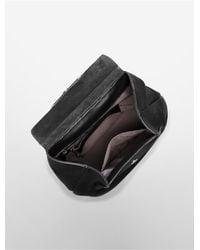 Calvin Klein - Natural Kelsey Pebble Leather Backpack - Lyst