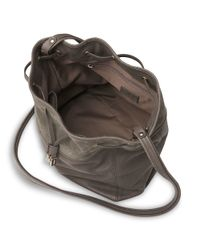 L.K.Bennett | Gray Betsey Leather Drawstring Bacg | Lyst