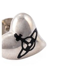 Vivienne Westwood Anglomania | Metallic Heart Stud Earrings | Lyst