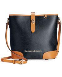 Dooney & Bourke - Blue Claremont Crossbody Bucket - Lyst