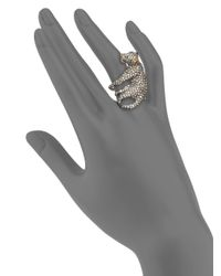 Alexis Bittar - Metallic Elements Moonlight Crystal Lounging Panther Cocktail Ring - Lyst