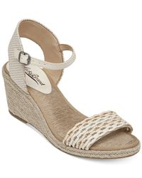 Lucky Brand - Gray Women's Kavelli Espadrille Two-piece Platform Wedge Sandals - Lyst