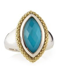 Lagos | Blue Venus Caviar Crystal Turquoise Doublet Ring Size 7 | Lyst