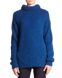 Tibi | Blue Roll-neck Pullover Sweater | Lyst