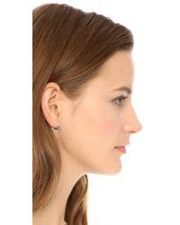 Aurelie Bidermann Metallic Rosebud Earrings - Silver