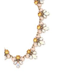 Forever 21 Pink Iridescent Faux Stone Statement Necklace