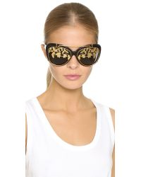 Matthew Williamson - Black Ivy Clip On Sunglasses - Lyst
