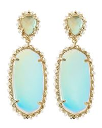 Kendra Scott | Blue Parsons Clip-On Earrings | Lyst