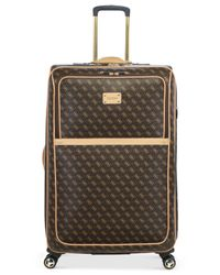 """Guess Brown Logo Affair Dlx 29"""" Spinner Suitcase for men"""